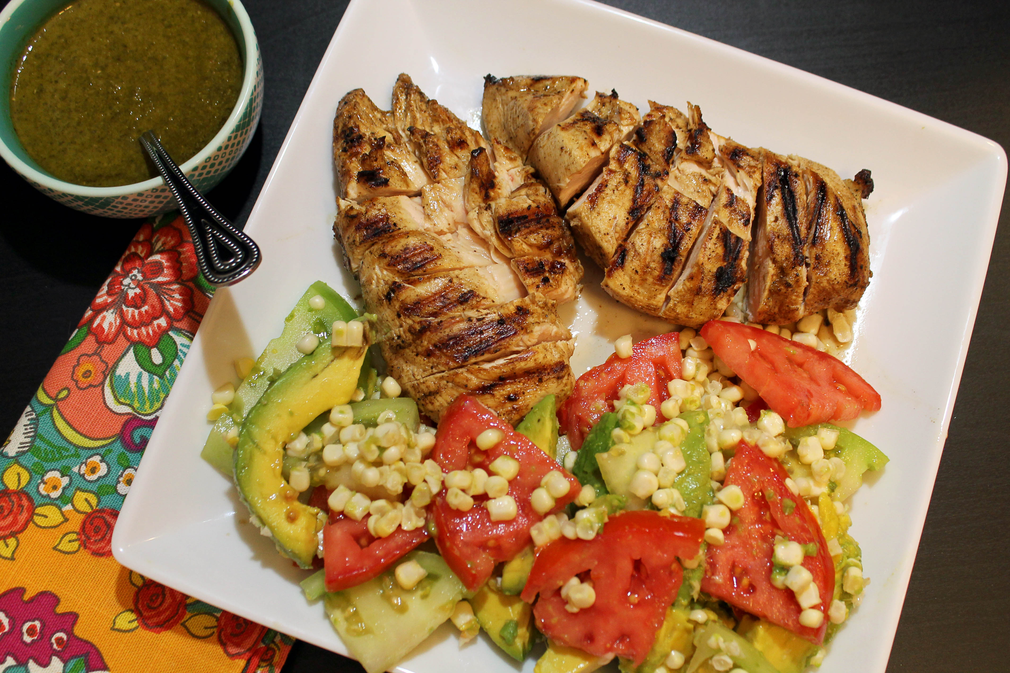 Grilled Citrus Chicken With Avocado Salad