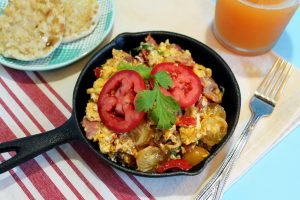Bacon And Egg Breakfast Scramble