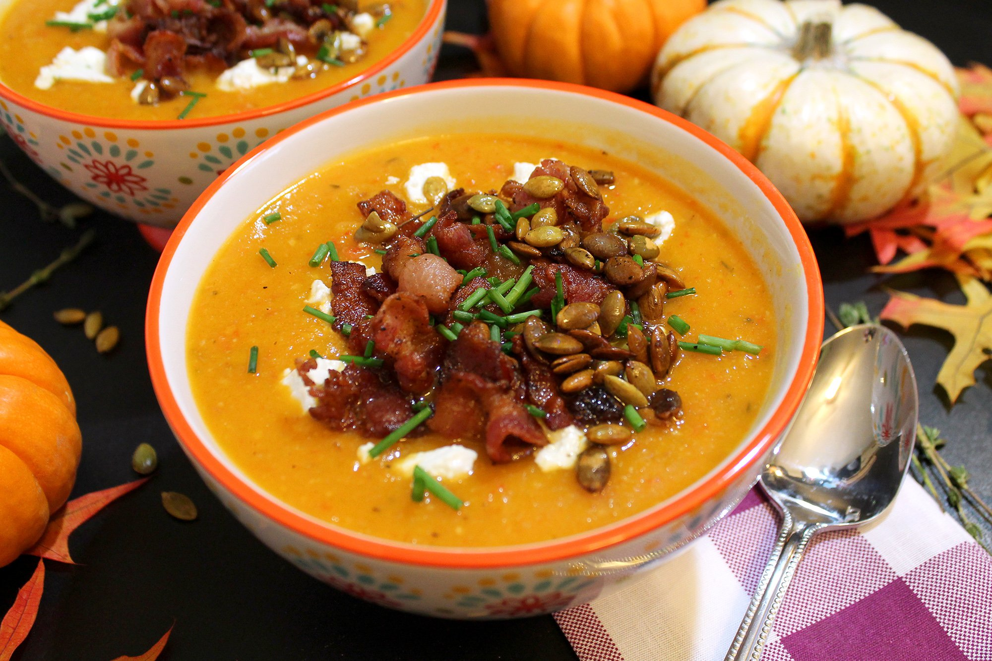 Butternut Squash And Bacon Bisque