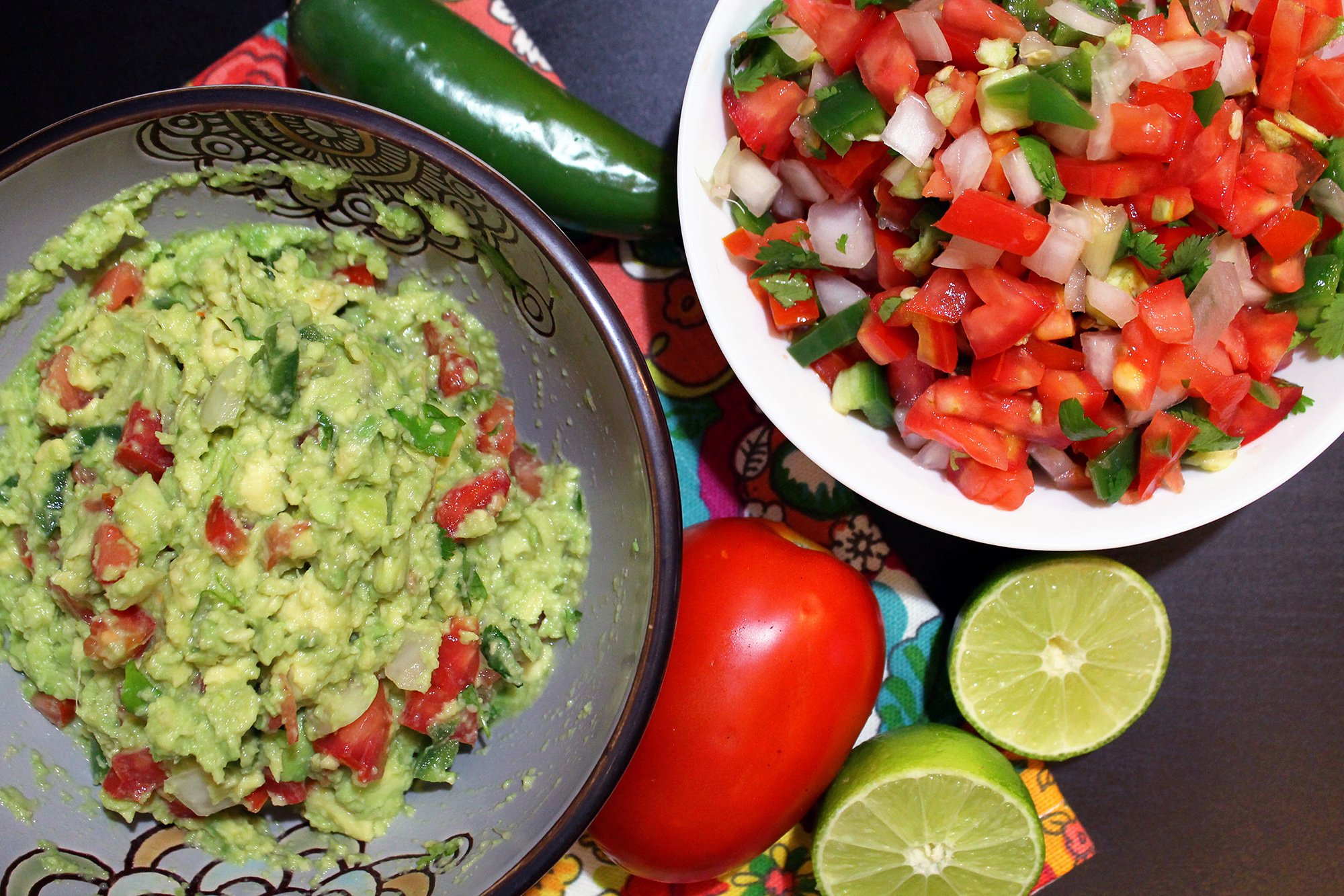 How To Make Guacamole And Pico De Gallo From Scratch