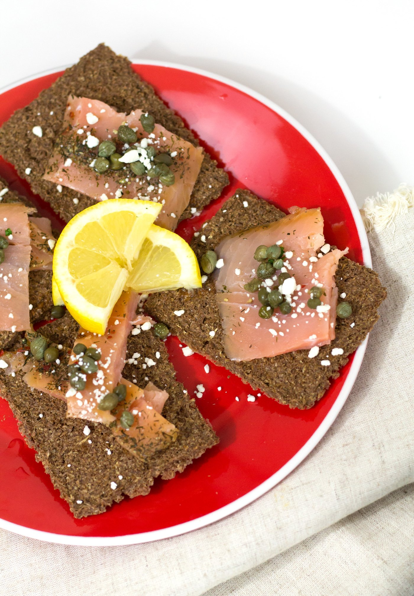 GG Crackers With Salmon