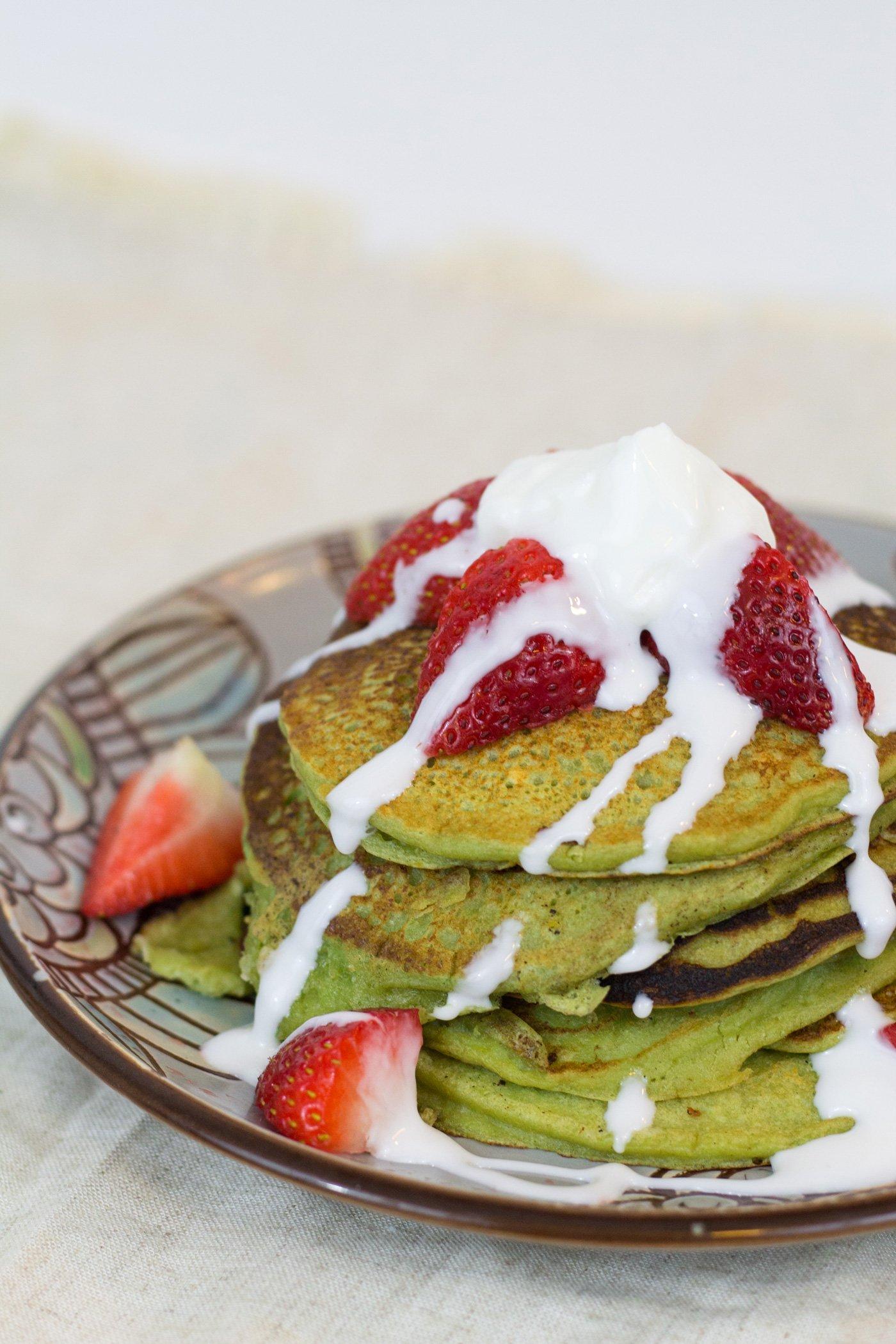 Ricotta Matcha Pancakes Recipe