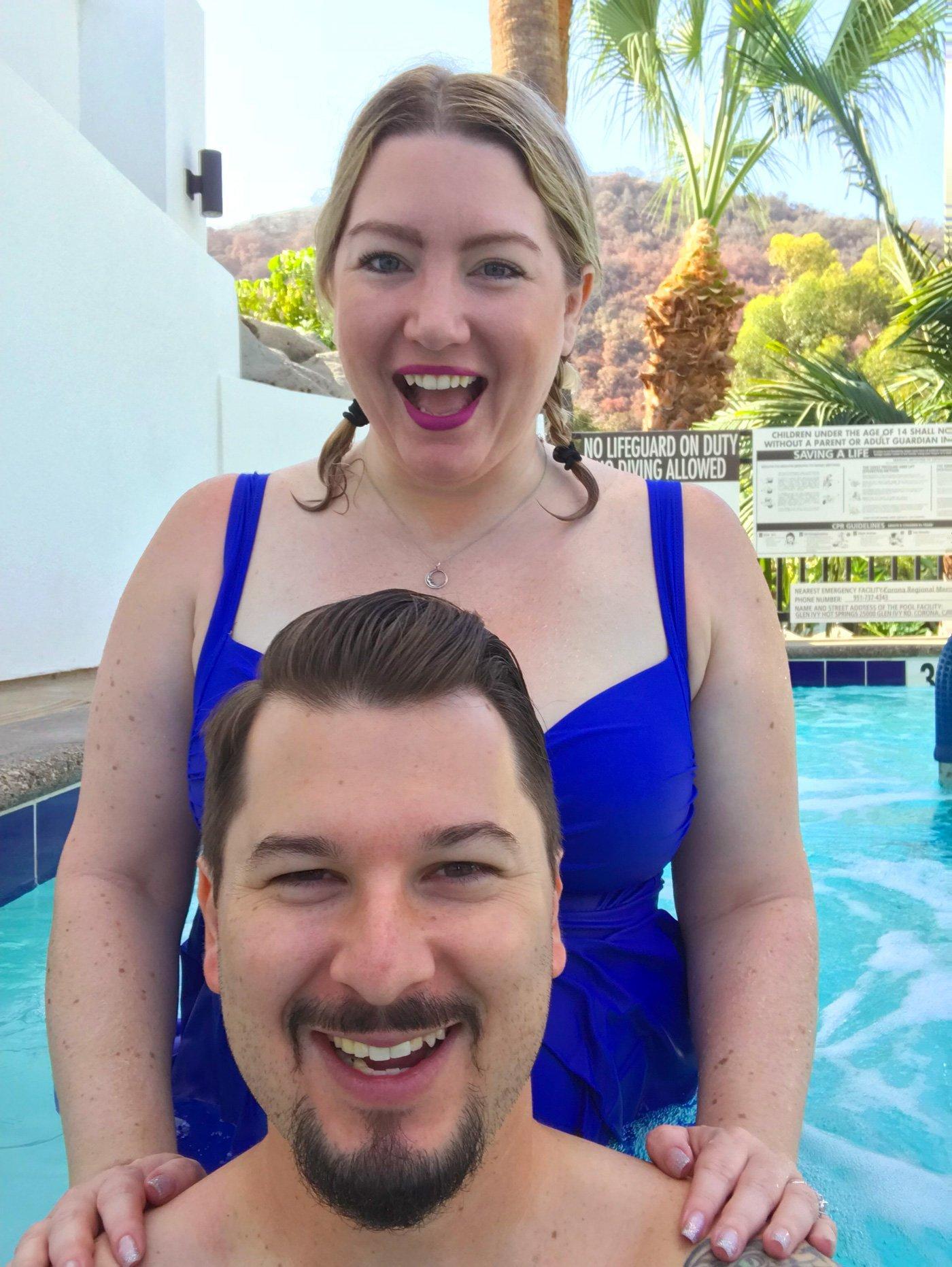 Natasha & Jarod Octon having fun in the Ivy Terrace Spa Pool.