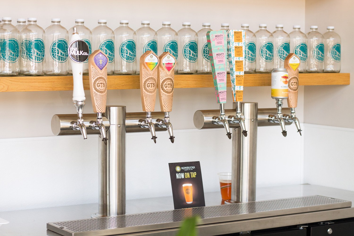 Kombucha on Tap at Red Hat Coffee