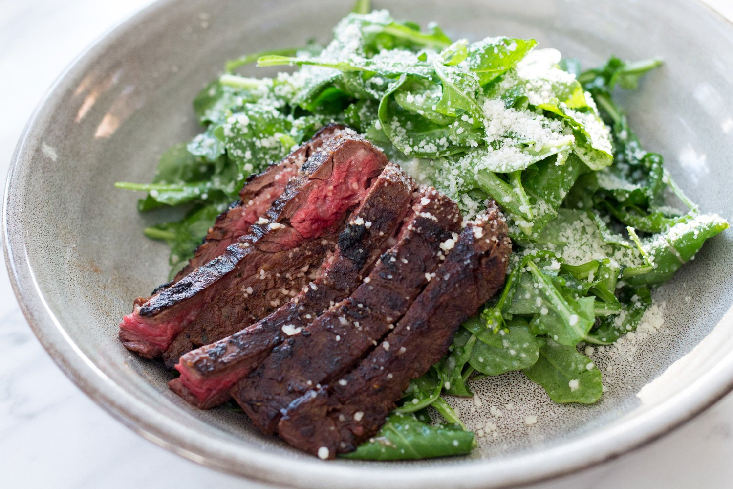 The Wild Arugula Salad With Skirt Steak from the Henry Restaurant in Coronado