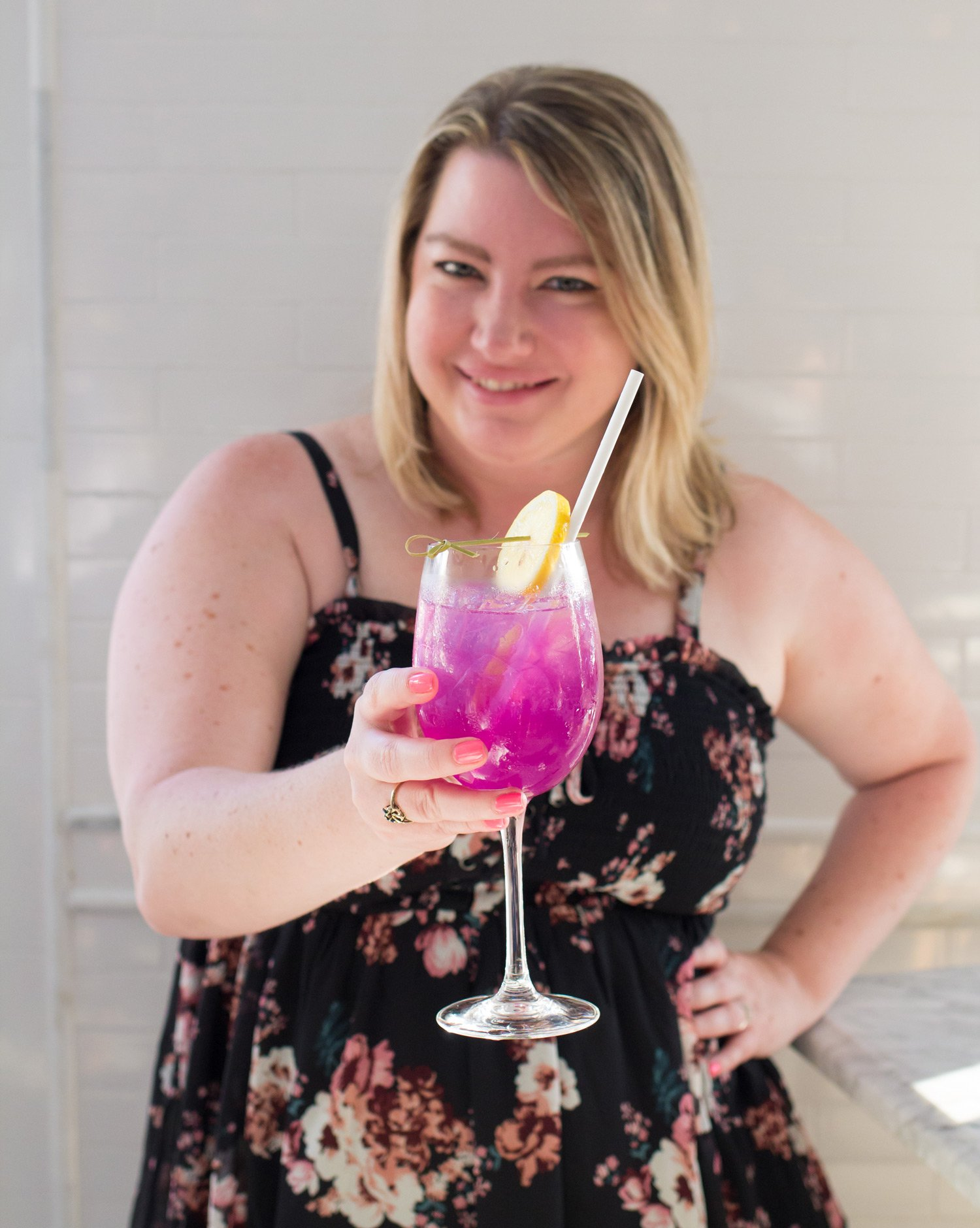 Natasha's Food Adventures With The Butterfly Plum Seasonal Spritz from the Henry Restaurant in Coronado