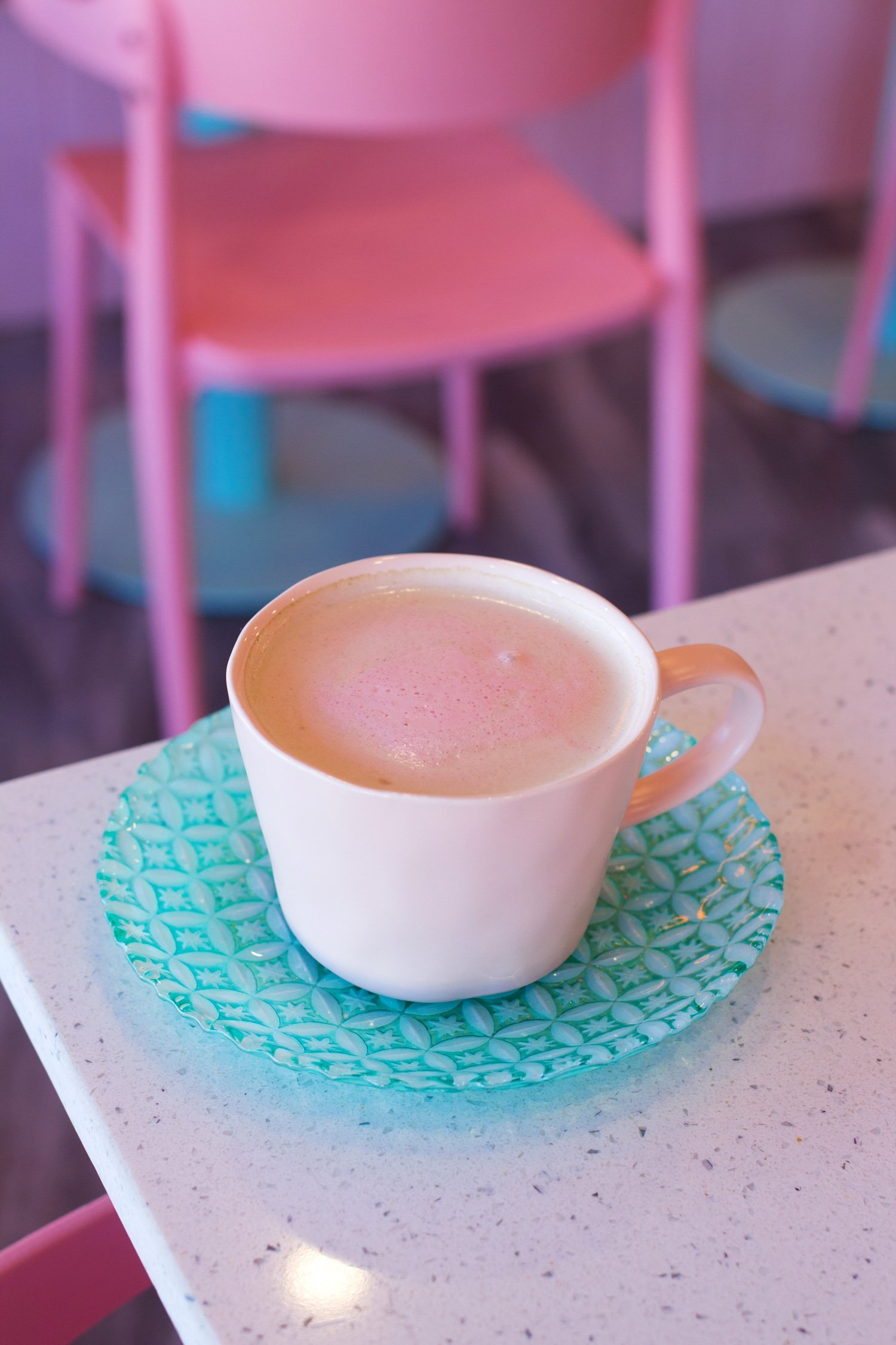 The Pink Lavender Latte