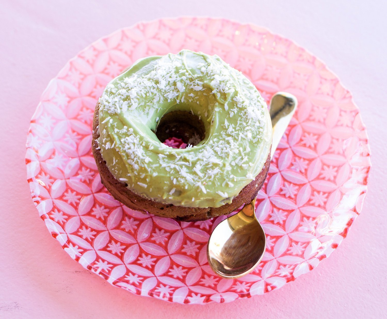 Chickpea Matcha Donut