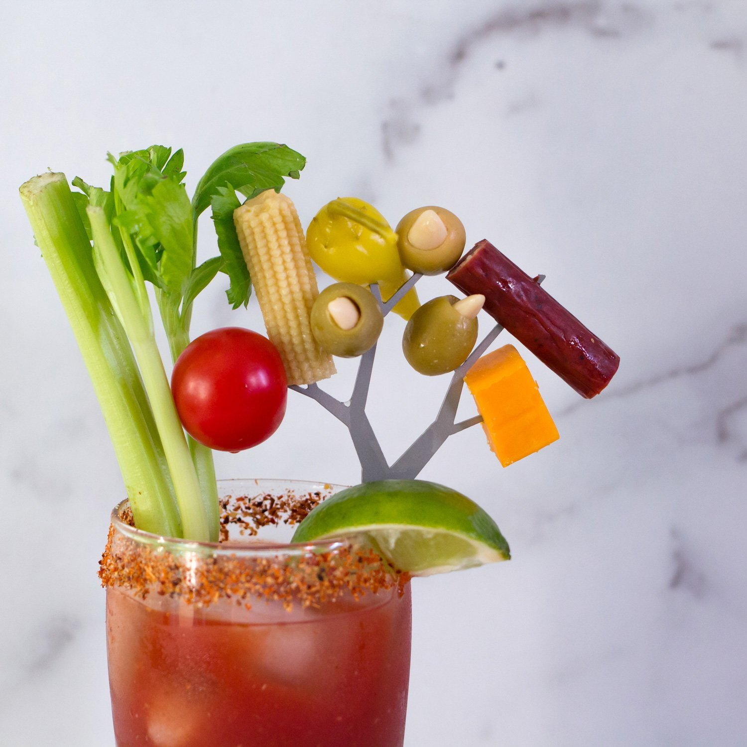 Spicy Bloody Mary Garnishes