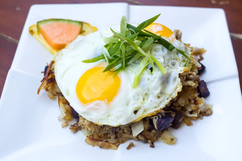 Kalua Pork Hash & Eggs