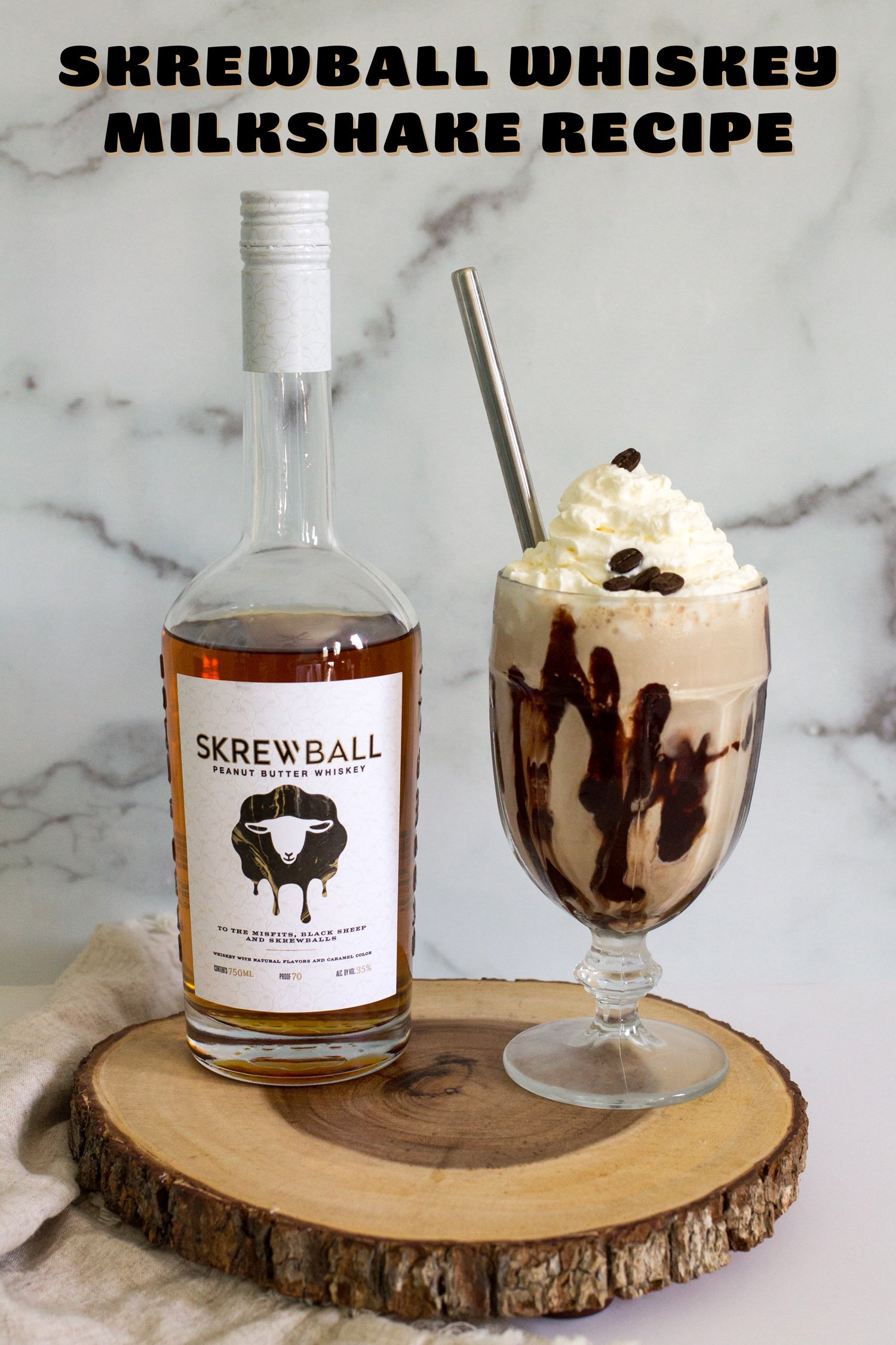 Skrewball Whiskey Milkshake Recipe