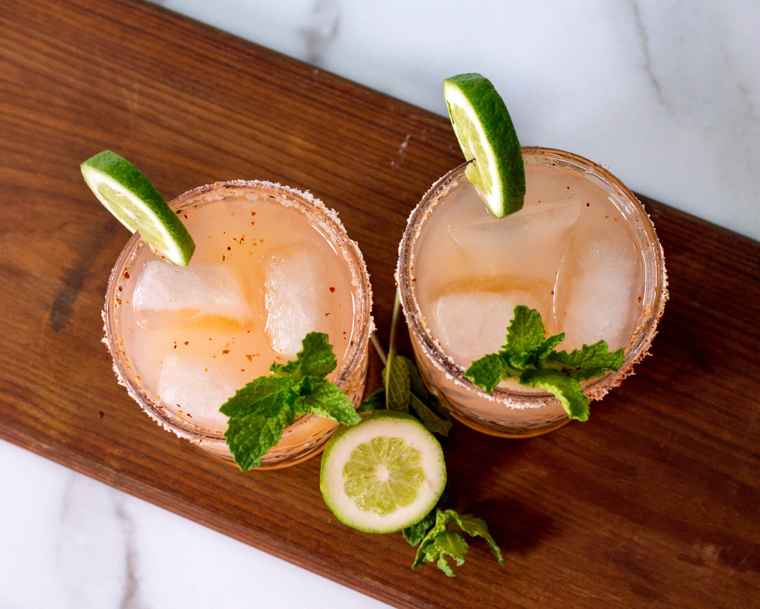Paloma Cocktails With Lime