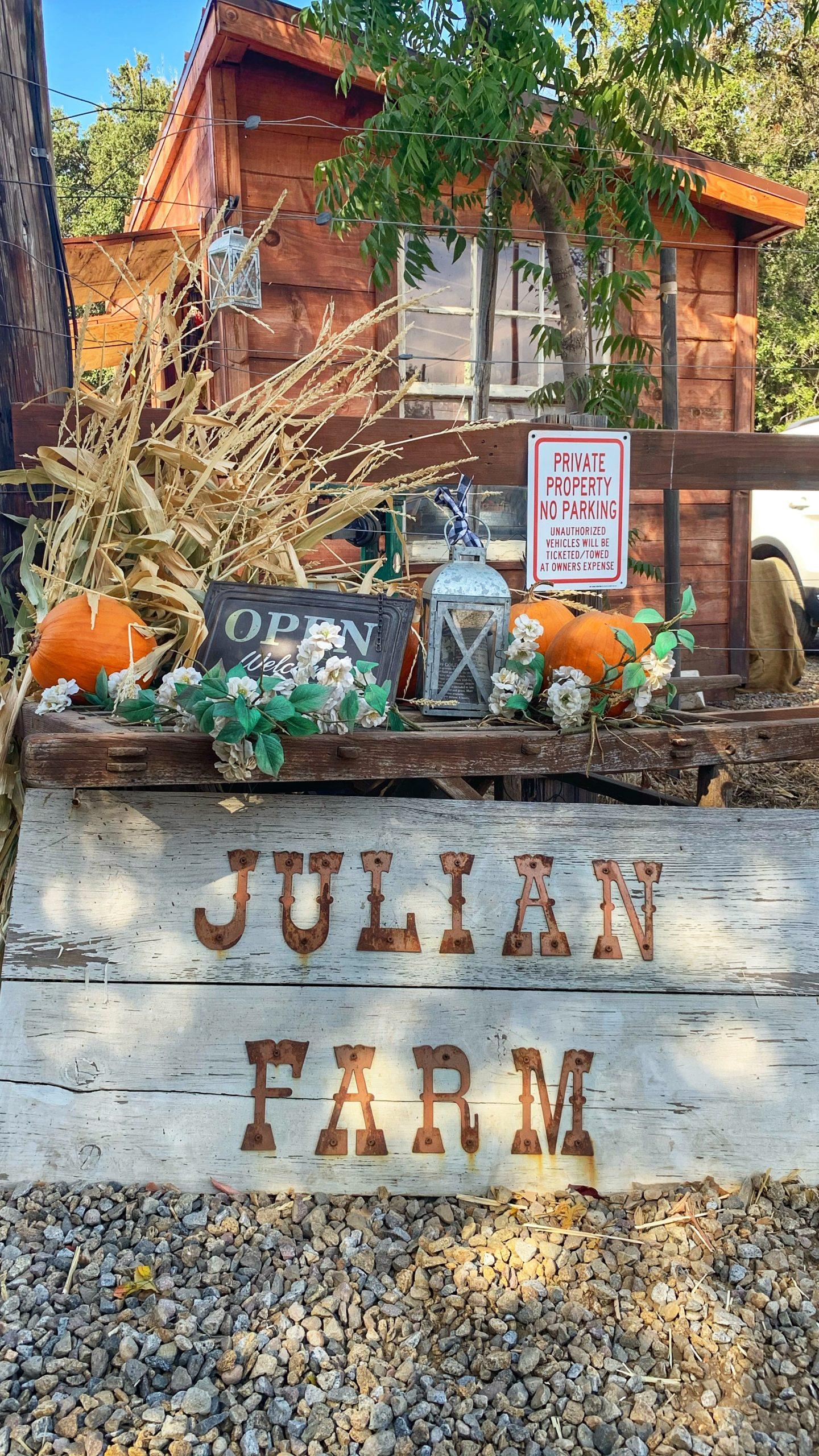 Julian Farm & Orchard Entrance