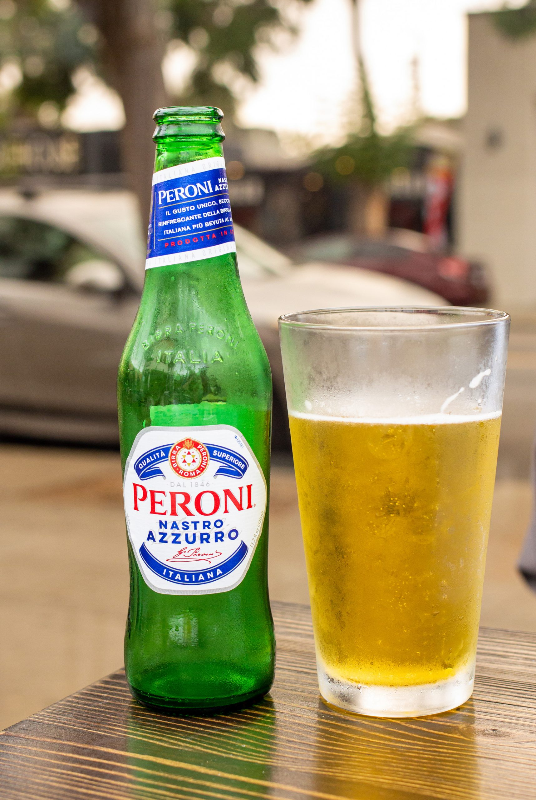 Peroni Italian Beer Served In A Cold Glass