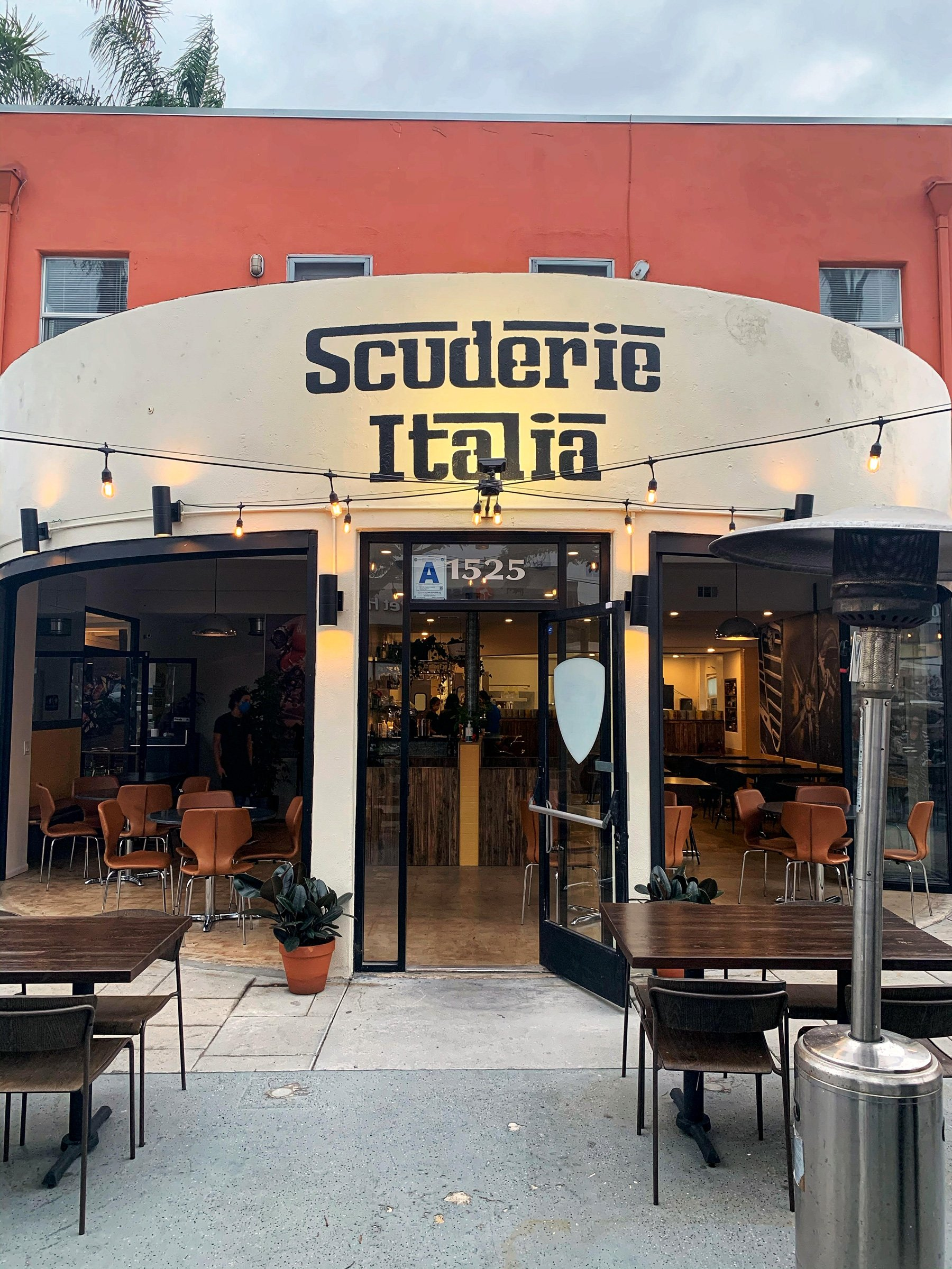 The front entrance to Scuderie Italia